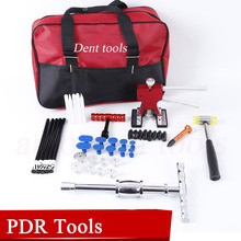 Hail Repair Kit handle Dent Lifter – PDR Slide Hammer with Tap Down – Glue Tab & Glue Stick – Paintless Dent Repair Tool