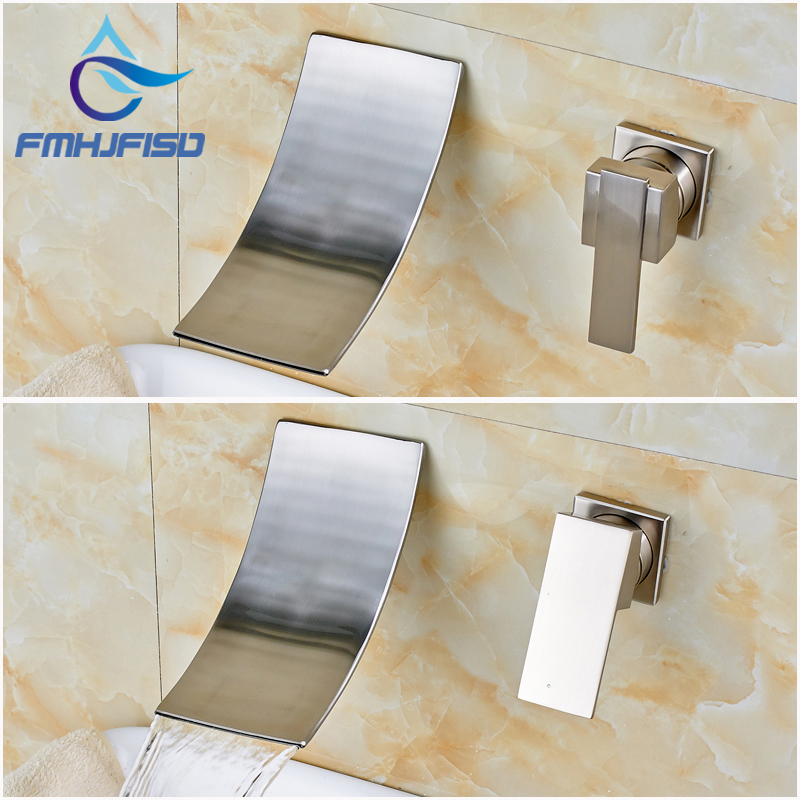 Bathroom Wash Basin Sink Water Taps Brushed Nickel Wall Mounted bar ktv personalized silver wash basin wash upscale bathroom ceramic basin washbowl villa clubhouse silver pedestal basin