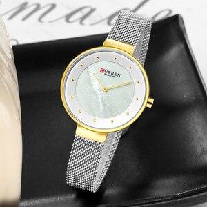 Image 4 - Creative Dialนาฬิกาผู้หญิงนาฬิกาควอตซ์CURRENเหล็กตาข่ายนาฬิกาข้อมือสุภาพสตรีสร้อยข้อมือนาฬิกาผู้หญิงBayan Kol Saati