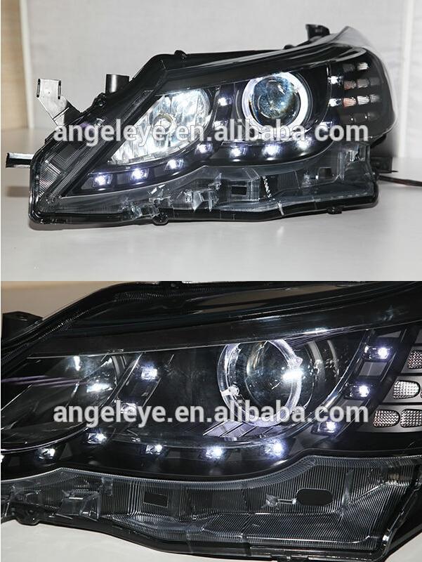 2010-2012 год для Toyota Марка «vertiga» X 2 рейз светодиодный Ангел глаз головной светильник s Передний светильник с объективом проектора PWV1