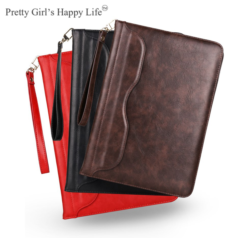 For Apple iPad Pro 9.7 inch Leather Case Stand Flip Cover For iPad PRO 9.7 2016 Tablet Shell Capa+Strap+Stylus pu leather tablet case cover for ipad pro 10 5 inch 2017 a1701 a1709 fashion flip stand smart protective shell skin funda capa