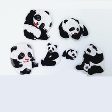 China Animal Black White Repair Badge Patch Embroidered Patches For Clothing Iron On Close Shoes Bags Badges Embroidery DIY