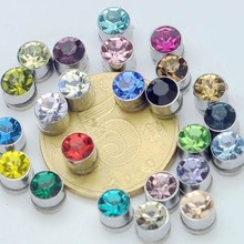 Small 5mm magnet stud earring no pierced magnetic stud ear 24Colosr Crystal  Gem Students colorful Jewelry 5f189c1c160f