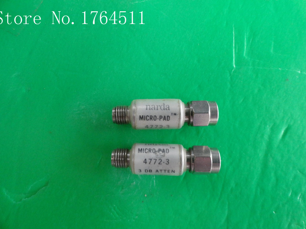 [BELLA] NARDA 4772-3 DC-6GHz Att:3dB P:2W SMA Coaxial Fixed Attenuator  --5PCS/LOT