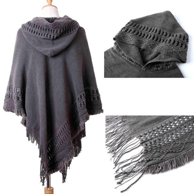 Ladies Tassel Cape Coat Poncho 3