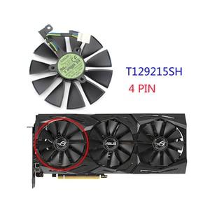 Image 5 - 87 มม. T129215SH T129215SL 12 V 0.30A สำหรับ ASUS ROG STRIX RTX 2070 O8G GAMING RTX2060 O6G กราฟิกพัดลมระบายความร้อน