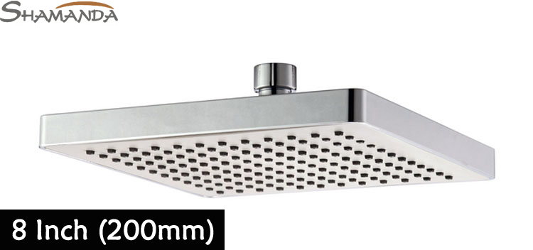 Free Shipping Bathroom Product 8 Inch Square ABS Rainfall Shower Head With  Plastic Chrome Rain Shower Head 8 Ceiling 21010 In Shower Heads From Home  ...
