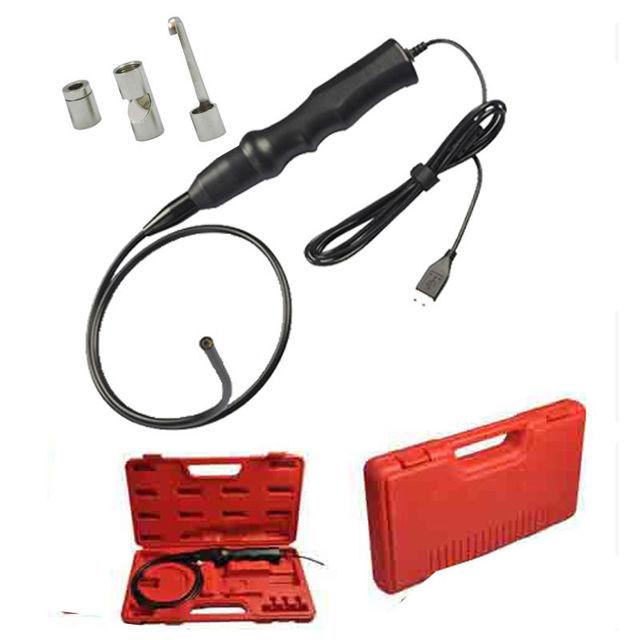 Dia 5.5mm USB Inspección Del Endoscopio Del Animascopio de La Serpiente de La Cámara W/Gancho + Maganet + Espejo