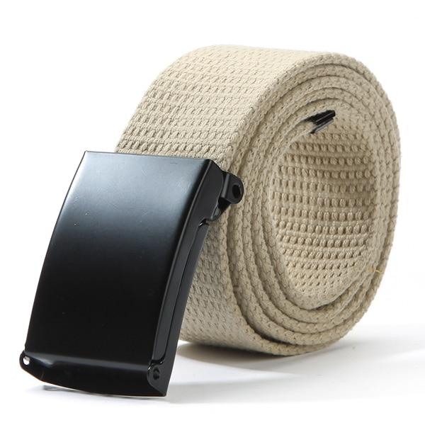 Fashion Cotton Canvas Metal Buckle   Belt   Waist Waistband Cintos Men Women Unisex Boys Candy Colors Plain Webbing Accessories J2