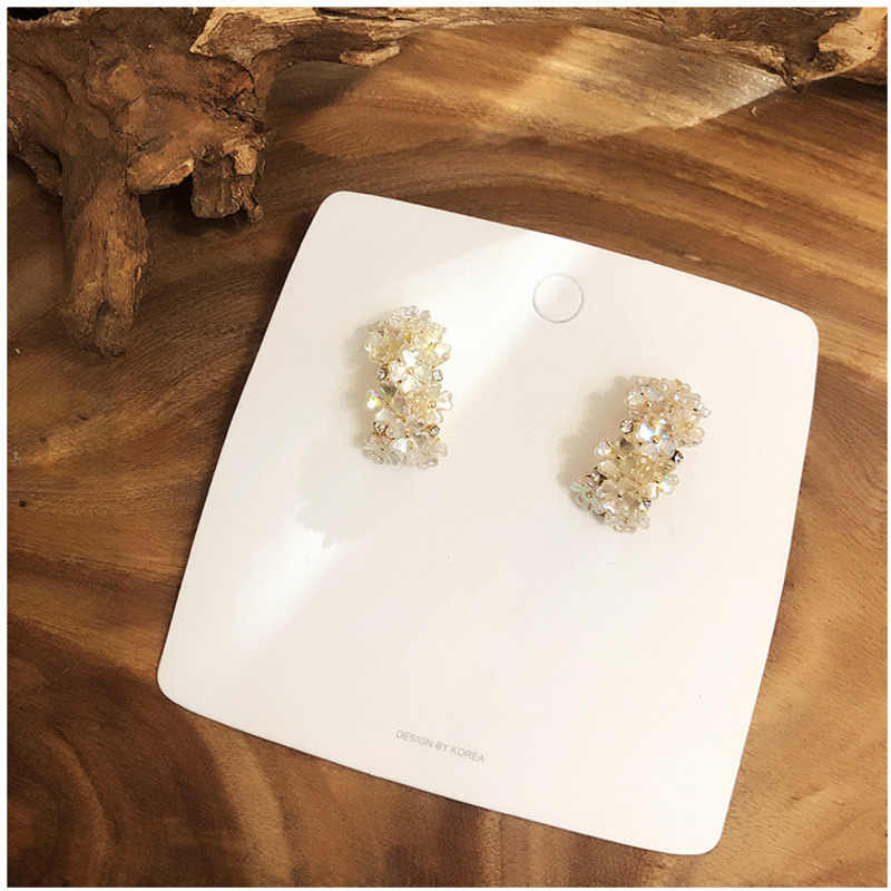 Japan Korea Earrings Shell Flowers Tassel Ear Ring Fashion Women Earring Geometric Irregular Hypoallergenic Copper Alloy Jewelry