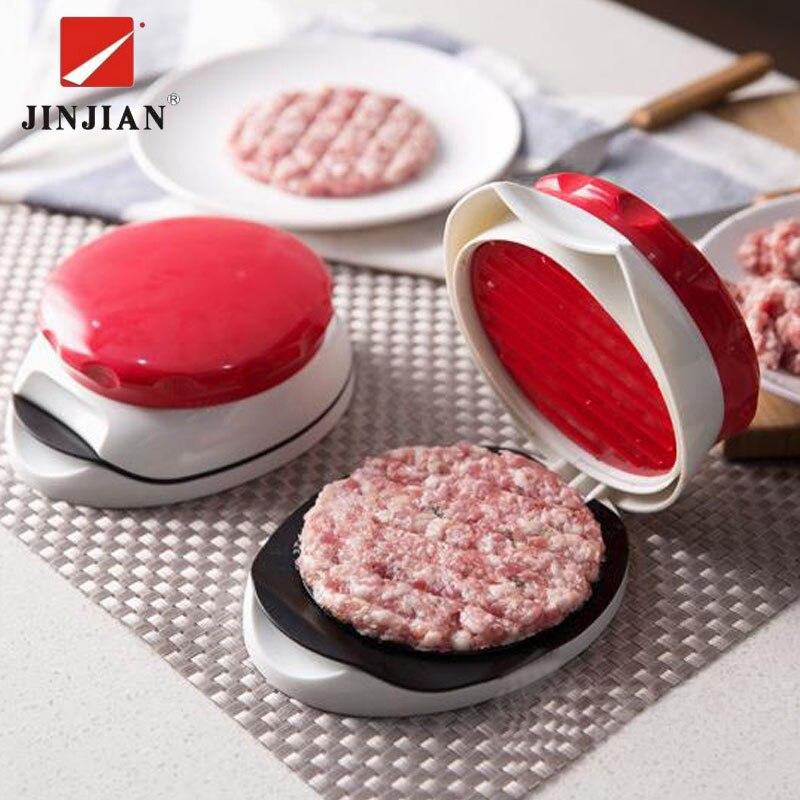 JINJIAN New DIY Hamburger Meat Press Tool New Cutlets Press Mold Food-Grade Plastic Hamburger Press Burger Maker Cooking Tool