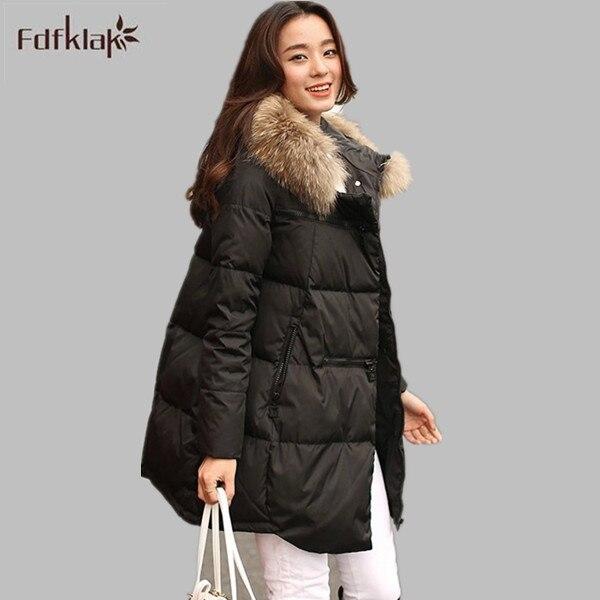 Women Brand 2016 New Long Winter Jackets Thick Ladies Coats Hooded Down Jacket Parka Plus Size Black/White S-4XL E0632 anne klein new blue black women s size small s button down back blouse $59
