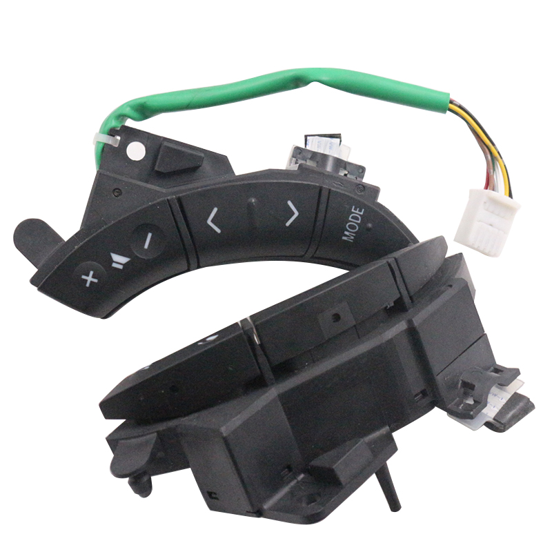 YAOPEI A Pair OEM 75B037 For Toyota Highlander Land Cruiser Steering Wheel Controls Switch black Color