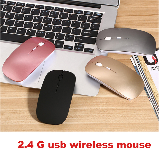 US $12 95 28% OFF|Wireless Rechargeable Gaming Computer Laptop Mouse for HP  Lenovo Asus Mac Windows 8/10 Notebook Wireless Mouse USB Receiver-in Mice
