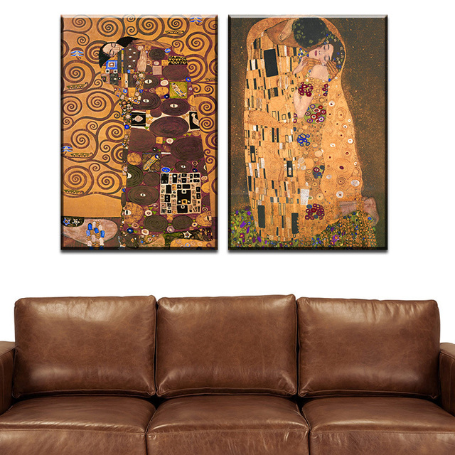 Aliexpress Com Buy Pcs Best Gustav Klimt Kiss Home Decor