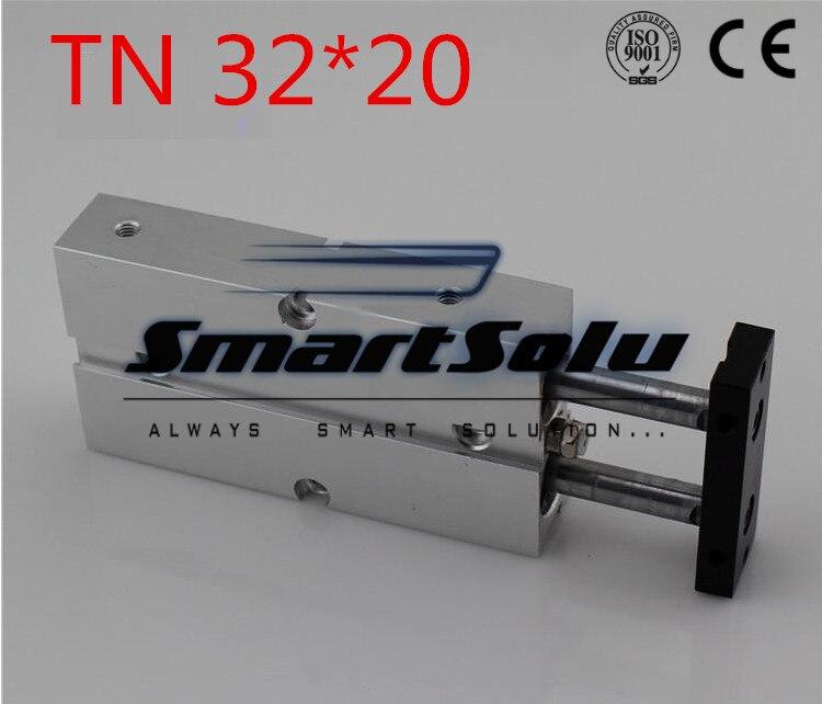 все цены на Free Shipping Bore 32mm Stroke 20mm Double Rod Pneumatic Air Cylinder , TN32-20MM TDA32X20 Mini Air Cylinders