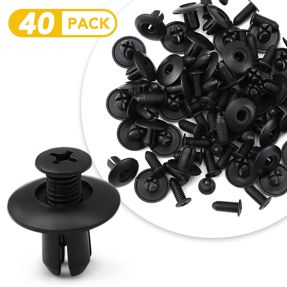 For Honda Civic 100PCS 6MM Fastener Bumper Cover Diversion Plate Fender Clips