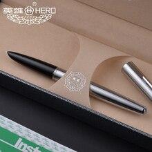 เหล็กโรงงานของแท้ HERO 100 STEEL 14K nib CLASSIC โบราณครูคอลเลกชันการประดิษฐ์ตัวอักษร Gift กล่องปากกา pimio