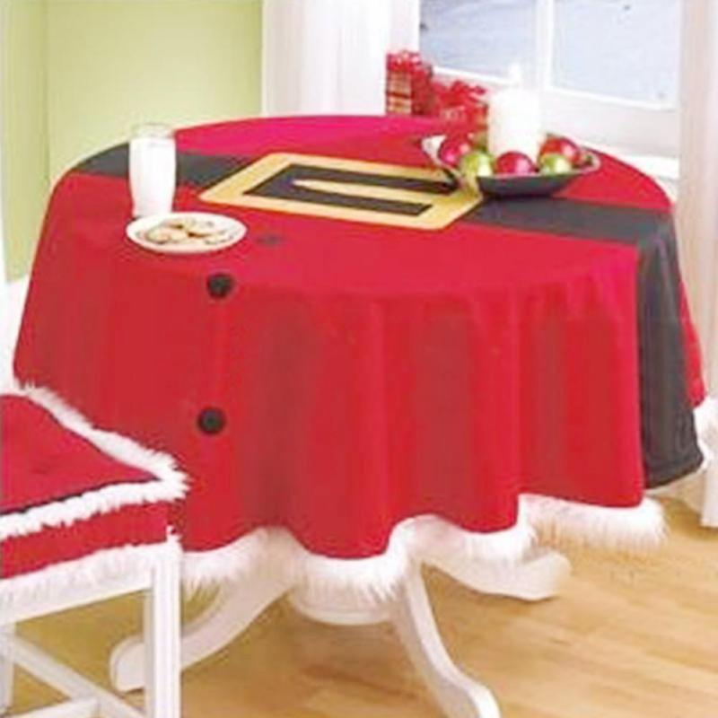 Home Table Decoration Cloth Christmas Tablecloth Square 148cm 58.27inches  Joyous Red Christmas Table Cloth L30