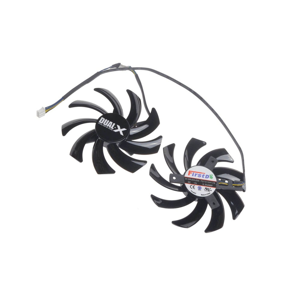 2 Pcs//Lot 85MM 4Pin GPU HD7950 HD7970 VGA Fan Cooler Graphics Card For Sapphire R9-370X//280//280X//285 Video Cards Cooling