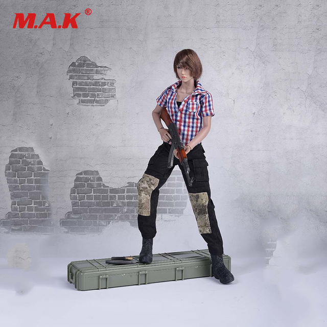 FG042 1/6 Scale Female Clothes Plaid Suit for 12 inches Woman Action Figure Accessory