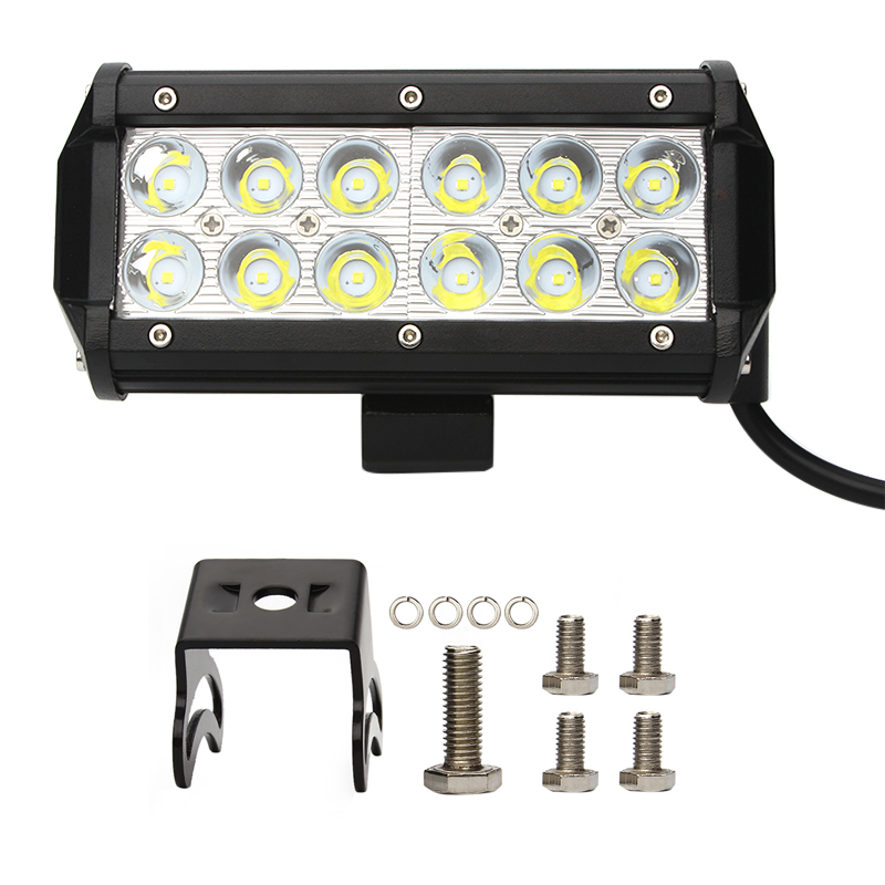 Car Truck Tractor Spot Flood Lamp 36W Led Work Light Super Bright Waterproof  12V 24V 2520Lm SUV ATV Universal Offroad  LED 17 inch 108w led light bar spot flood combo light led work light bar off road truck tractor suv 4x4 led car light 12v 24v