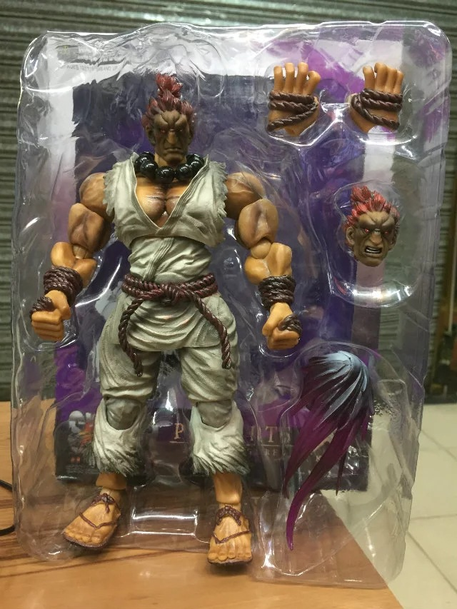 J.Ghee PLAY ARTS KAI Street Fighter IV 4 Gouki Akuma PVC Action Figure Collectible Model Toy play arts kai street fighter ryu pvc action figure collectible model toy 22cm kt3437