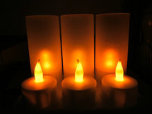 Set Of 6 Rechargeable LED Flameless Candle Tealight Decor