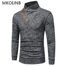 Free Shipping Fashion Classic Solid Turtleneck Sweater Men Autumn Winter Top Quality Woolen Pullover Men Slim Fit Cotton Sweater