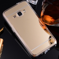 For Samsung Galaxy J1 Case J100 Luxury Slim Plating Mirror Soft TPU Silicone Case For Samsung