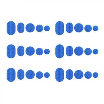 30 unids/set Universal azul PA para abolladura de carrocería de coche Reparación de cuña succionador Pull Cap Tabs herramientas Kit de accesorios