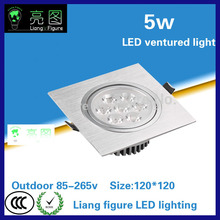 5W Led Grille lamp AC85-265V single head ceiling lamp energy saving LED downlight spotlight