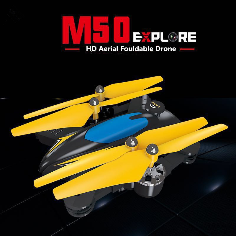 Altitude Hold Foldable RC Drone M50 Remote Control toys can with WIFI camera 2.4GHZ 6 Axis gyro Headless rc Quadcopter toys gift jmt cg030 foldable 0 3mp camera drone wifi fpv 6 axis gyro altitude hold headless rc quadcopter mini drone app control rc dron