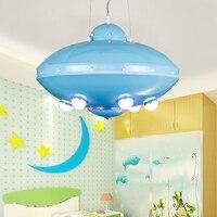 Dzieci zabawki nowoczesne lampy sufitowe LED pokój dziecięcy chłopcy kreskówki dziewczyny sypialnia przedszkole pokój dziecięcy UFO lampy led ZA FG506