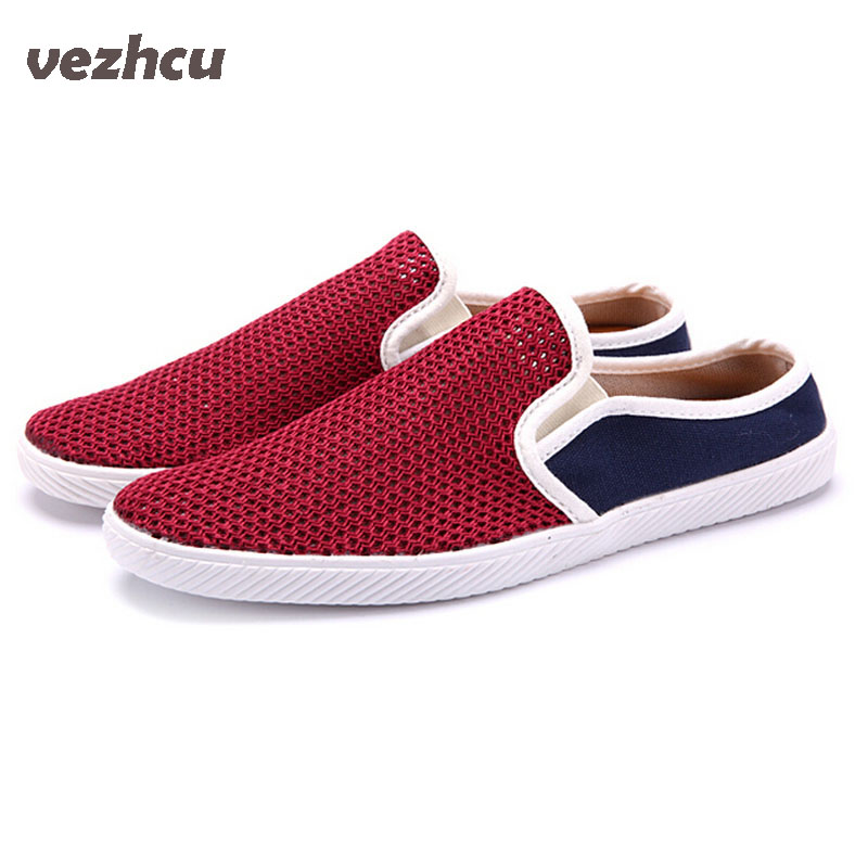 Men Slippers Casual summer men canvas shoes British style pedal lounged shoes breathable Men sandals summer Shoes Men 5c34 high profile baby trolley ultra light can be lying down two way four wheel shock baby trolley