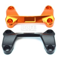 Orange Motorcycle CNC Aluminum Handlebar Risers Top Cover Clamp Fit For KTM DUKE 390 200 125