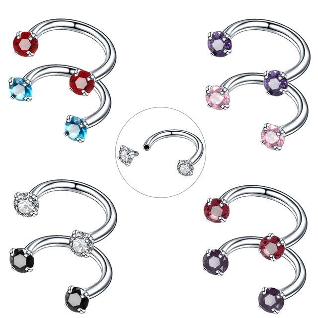 1PC Steel Nose Piercing Helix Piercings Septo Nose Lip Eyebrow Ear Septum Piercing Orelha Cartilagem Captive Hoop Body Jewelry