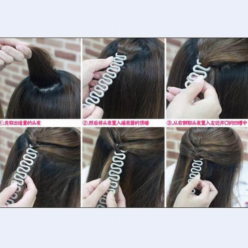 Braider para Uso Wholesal Moda Faça Você Mesmo Cabelo Ferramenta Trança Francesa Lace up Modelagem Adereços Como Mulheres Dish Hair Styling Pessoal