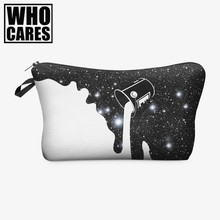 milky way paint 3D Printing who cares women cosmetic bag neceser Fashion travel bolsos mujer de marca famosa toiletry organizer