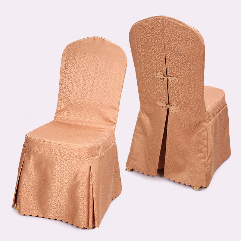 High Quality Jacquard Chair Covers Customize Wedding Decoration 30Pcs Lot Polyester Chair Cover for Weddings Banquet