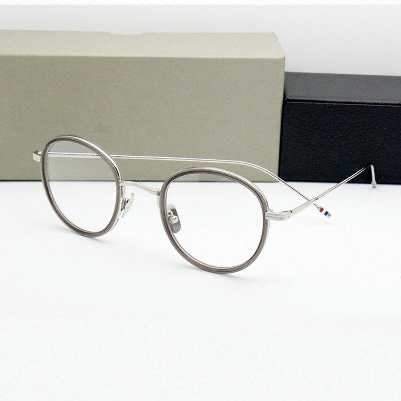 Haute qualité ronde en forme d'acétate TB905 lunettes cadre hommes rétro lunettes femmes myopie lecture lunettes Oculos De Grau - 4