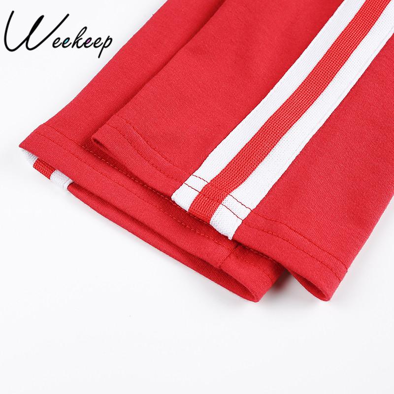 HTB175hkRpXXXXXxapXXq6xXFXXXh - Women Brand Two Piece Set Side Striped Crop Top And Leggings Red Fitness Set JKP041