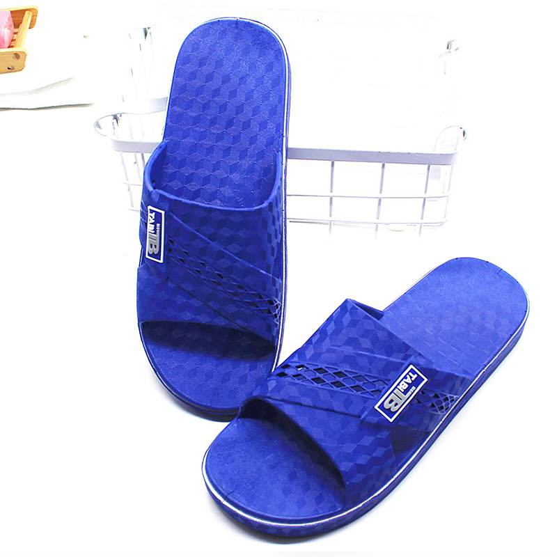 Big Size 45-50 Home Slippers Men Summer Solid Rubber Slippers Fashion PVC Sole Light Weight Shoes For Men Chaussure Homme