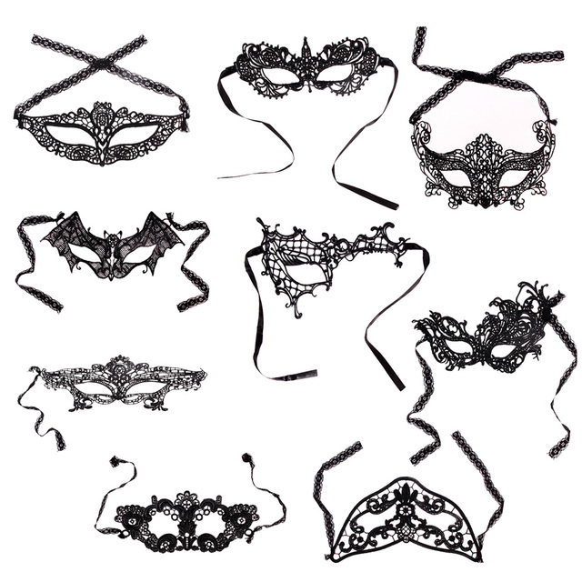 9 Style Lace Eye Masks