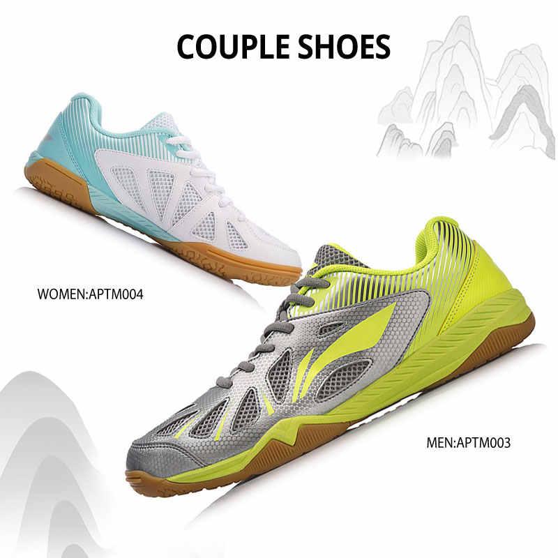 Li-ning נשים מערבולת שולחן טניס נעלי הלאומי בקבוצה סניקרס ביש רירית נוחות ספורט נעלי APTM004 YXT021