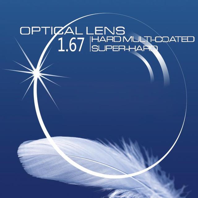 Единое Видение 1.67 Индекс Диоптрий Прозрачные Линзы Оптических Близорукости Дальнозоркость Чтение Рецепта Очков