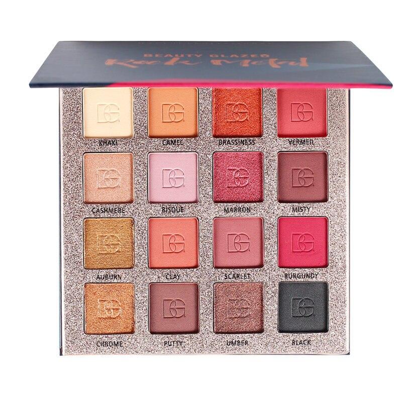 Beauty Glazed 16 Color Nude Shinning Eyeshadow Palette (1)