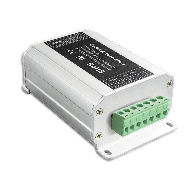 Entrée Artnet-SPI-1 DC5-24V LTECH; sortie de signal numérique SPI (TTL) convertisseur Artnet vers SPI conduisant 2801,6803, 1804,2811, 1903 ci, etc.
