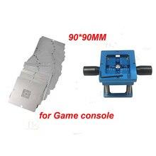 90 мм Универсальный bga трафарет Комплект для игровой консоли 23 шт.+ установка для реболлинга для PS3, Xbox, 360 и т. д