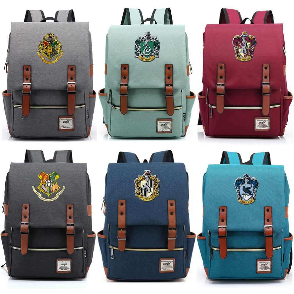 For Vip Link Magic Hogwarts Ravenclaw Slytherin Gryffindor Boy Girl Student School bag Teenagers Schoolbags Women Men Backpack